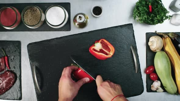 Thumbnail for Slicing Red Bell Pepper