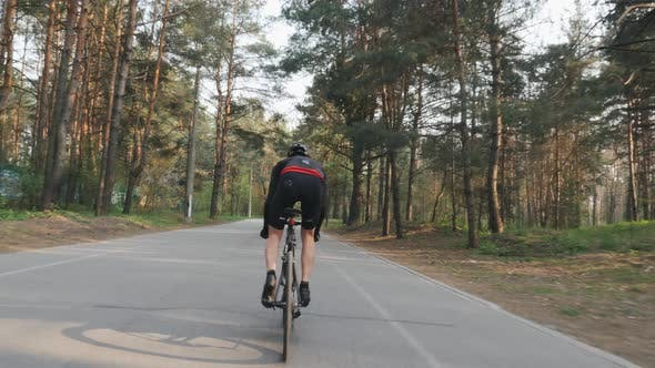 Thumbnail for Cyclist Sprinting out Of the Saddle as Part of His Training Program