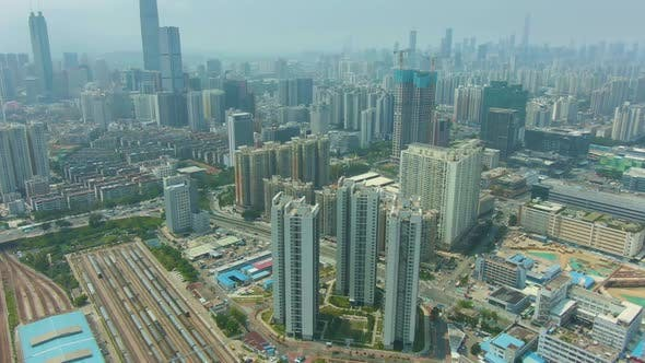 Thumbnail for Shenzhen City at Sunny Day. Residential Neighborhood. China