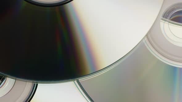 Rotating shot of compact discs - CDs 037