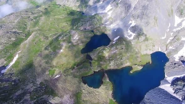 Thumbnail for Aerial Mountain Glacier Lakes