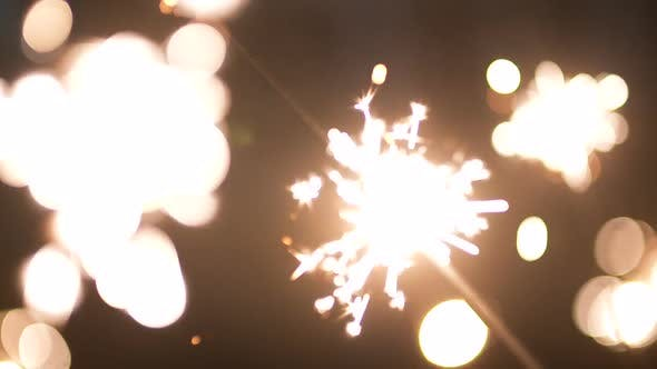 Thumbnail for Fireworks in the Hand of Woman During the Celebration of the New Year