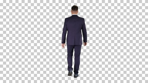 Thumbnail for Confident Businessman Walking, Alpha Channel