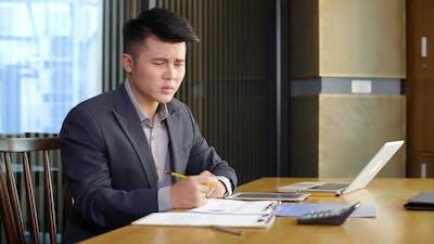 Businessman Having Challenging Task