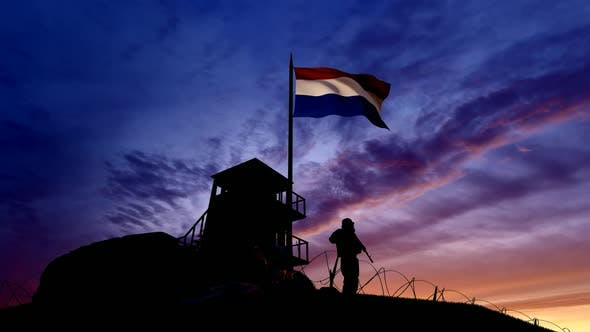 Thumbnail for Dutch Soldier On The Border At Night At The Border