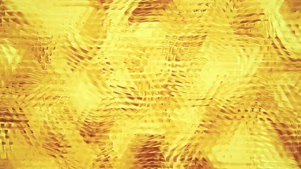 Motif abstraite ondulé jaune