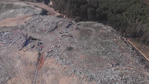 Thumbnail for Aerial view of garbage and waste storage. Piles of trash