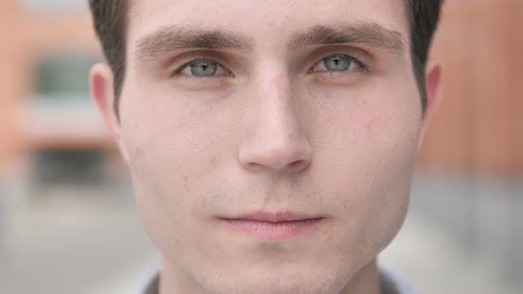 Thumbnail for Outdoor Close up of Young Man Face