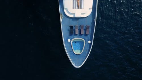 Woman on Luxury Private Yacht in Maldives Ocean