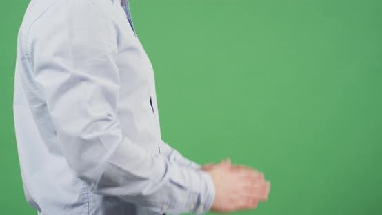 Thumbnail for Side view of a man hands praying
