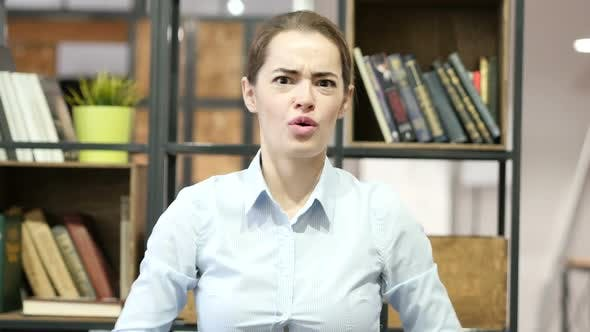 Thumbnail for Loss, Woman Reacting To Failure, Stress, Indoor Office
