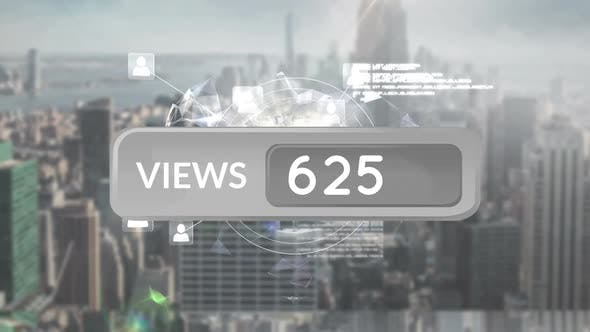 Increasing number of views on social media