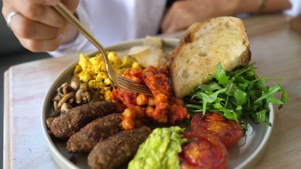 Vegan Interpretation of Classic English Breakfast
