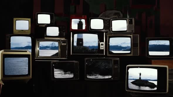 Thumbnail for Les Eclaireurs lighthouse on the Beagle Channel and Retro TVs.