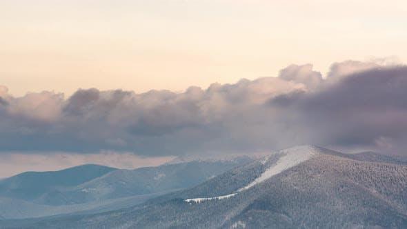Thumbnail for Beautiful Mountain Day, Cloudy Winter Fir-tree