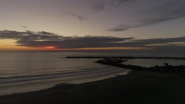 Thumbnail for Modern Harbour and Beach at Sunset