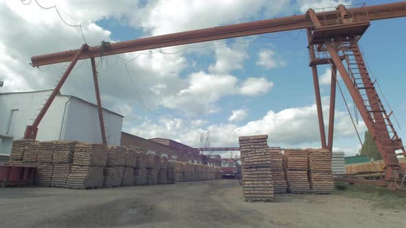 A brick factory