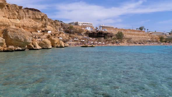 Thumbnail for Rocky Beach on Red Sea Near the Coral Reef. Egypt. Resort on Red Sea Coast