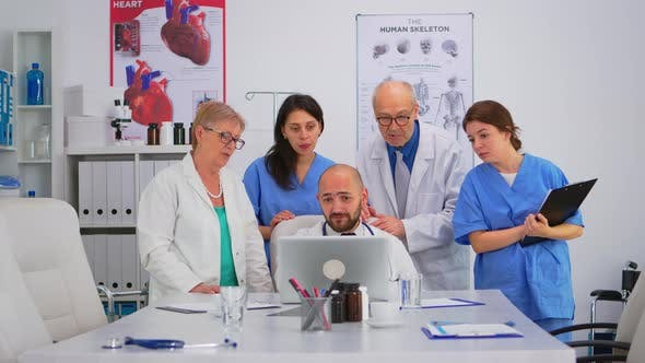 Group of Doctors Having Health Brainstorming Conference
