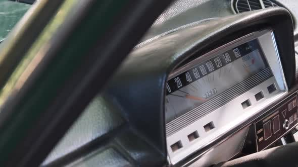 Thumbnail for Car Retro Dashboard. Vintage Retro Speedometer and Instrument Panel of Old Car