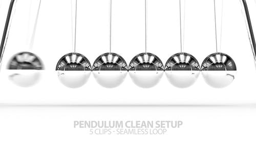 Silver Pendulum with Clean Background