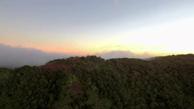 Hawaiian mountains at sunset, Waimea Canyon, Hawaii Grand Canyon