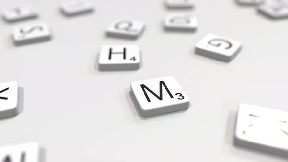 Thumbnail for MOSCOW City Name Being Composed with Letters