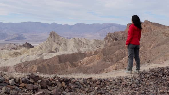 Thumbnail for Asian Woman Hiking In Death Valley