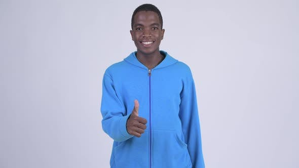 Thumbnail for Young Happy African Man Giving Thumbs Up
