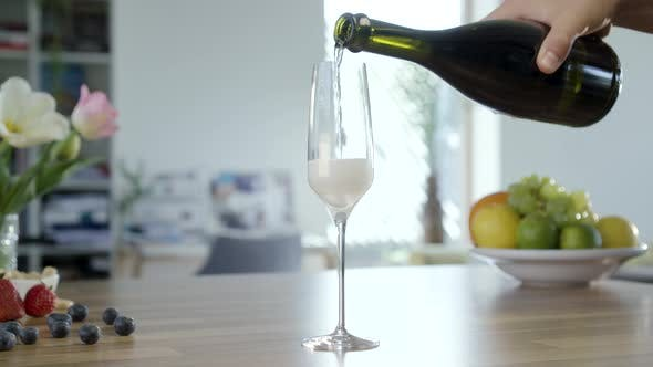 Thumbnail for Pouring Champagne In To Glass