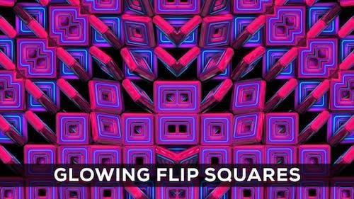 Glowing Flip Squares