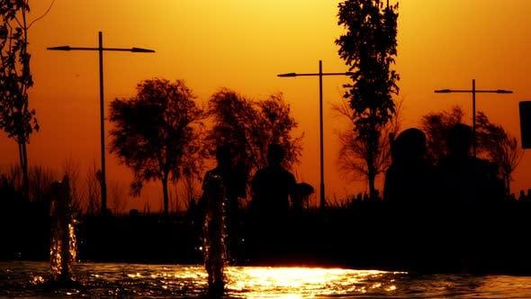 People Silhouette Near The Seaside 5