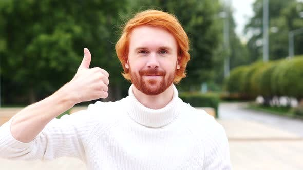 Thumbnail for Thumbs Up by Man with Red Hairs, Outdoor