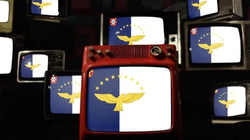 Flag of the Azores and Retro TVs.