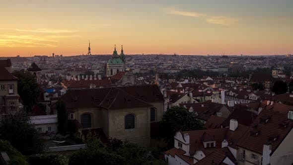 Thumbnail for Early Morning View of the Old Town Architecture with Red Roofs in Prague Timelapse , Czech Republic