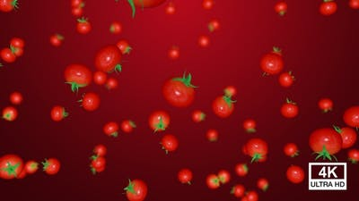 Ripe Tomatoes Falling Down 4K
