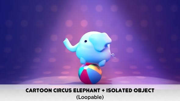 Thumbnail for Cartoon Circus Elephant Pack