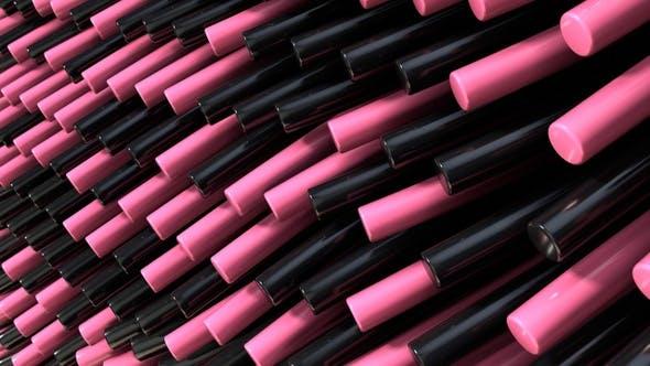 Rosa schwarze Strähnen Schleife 29