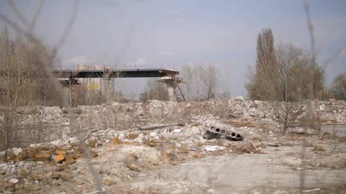 View of Illegal Dump Landfill Site in the City