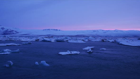 Thumbnail for Glacier Lagoon During Sunset