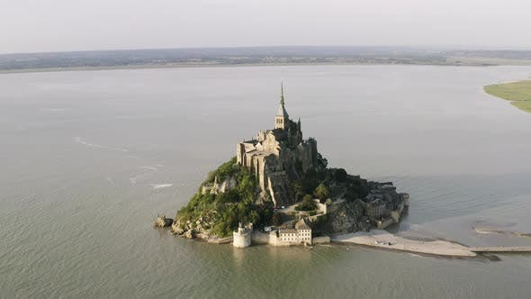 Thumbnail for Aerial view of the famous Mont Saint-Michel