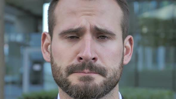 Thumbnail for Face of Sad Beard Businessman