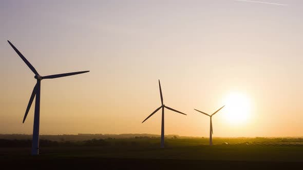 Cover Image for Wind Farm at Sunrise