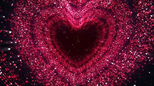 Glittering Particles Hearts