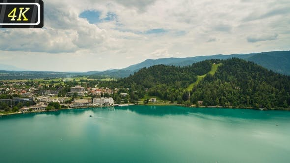 View on Bled Lake and Town