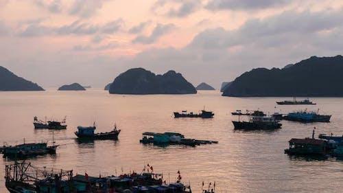 Cat Ba Island Sunset, Ha Long Bay, Vietnam