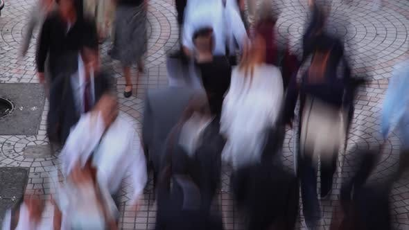 Thumbnail for Crowded Sidewalk Time Lapse