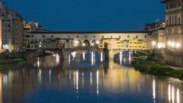 Twilight Hyperlapse of Ponte Vecchio, Florence