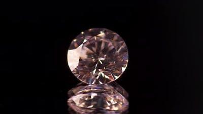 Close Up of Diamonds on Black Background