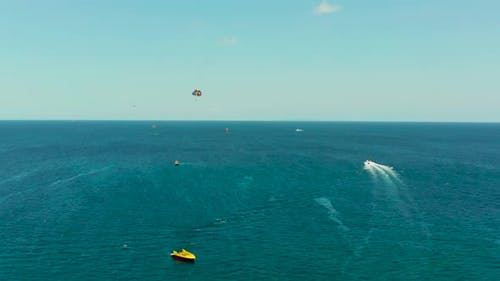 Parasailing on the Island of Boracay Philippines